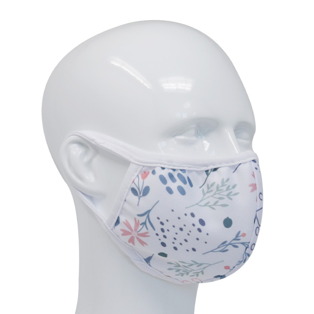 Premium fabric face mask flowers pastell