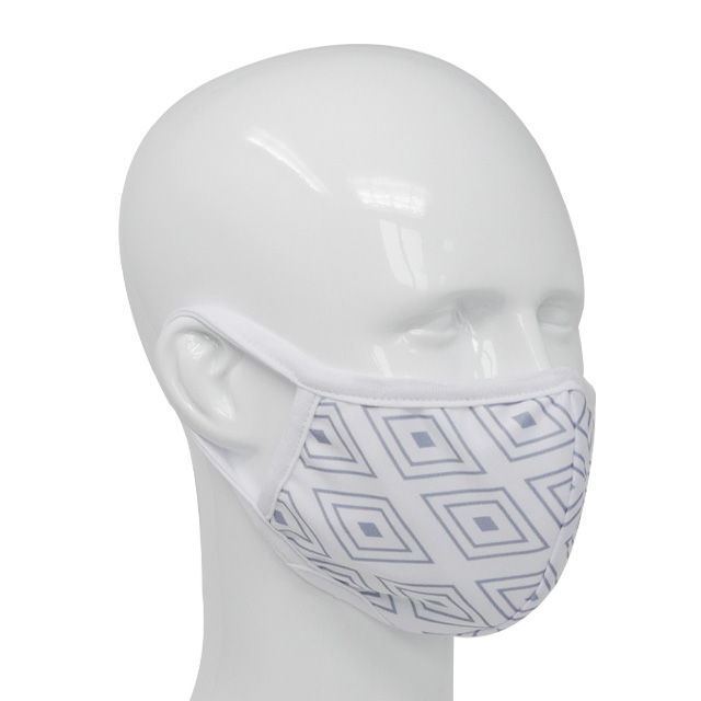 Premium fabric face mask check pattern